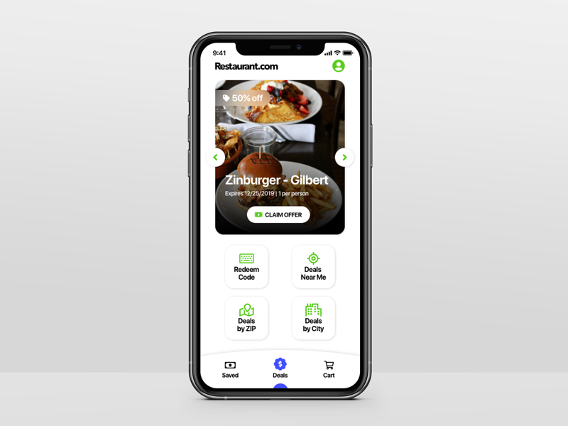 Restaurant.com UI Redesign food mobile app ui design ui