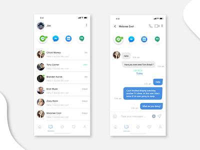Direct Messaging Design ui design direct message design mobile