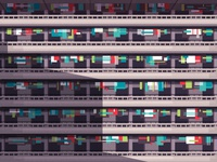 Endless Chinese balconies pattern