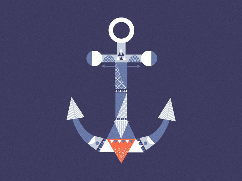 Crystal Anchor pattern geometry anchor vector illustrator adobe
