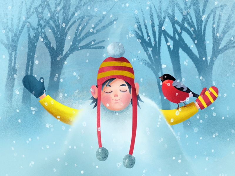 Winter is closer with every new Day! <3 kids illustration kids books winter 2d illustration character background illustration