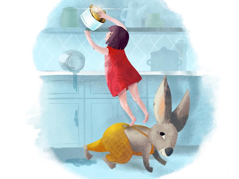 Warsaw and Rabbit rabbit character texture illustration childhood kids kidsillustration