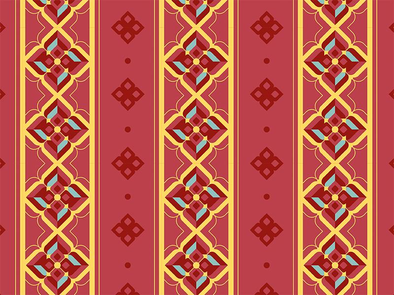 LineThai thai illustration pattern