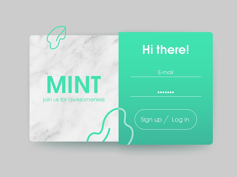 Daily UI #001 : Sign up app signup dailyui ui
