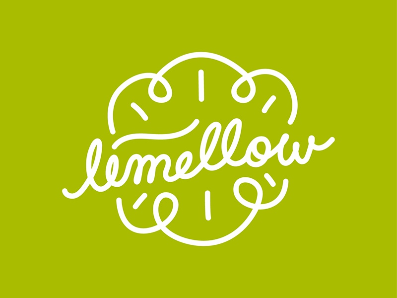 Limellow Logo identity typo illustration logo