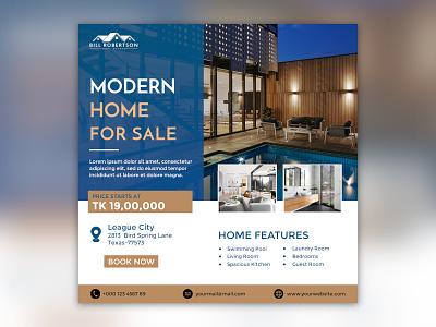 Real Estate Facebook Poster real estate branding real estate realestate facebook banner instagram post instagram socialmedia facebook ads facebook ad branding social media design social media facebook design