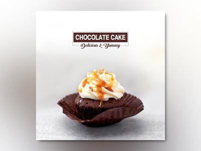 Delicious & Yummy Chocolate Cake Instagram Poster social media design illustration instagram stories social media instagram banner instagram post instagram socialmedia facebook design