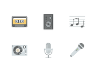 Music Icons (Free Download)