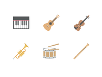 Music Instrument Icons (Free Download)