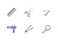 Salon Icons (Free Download)