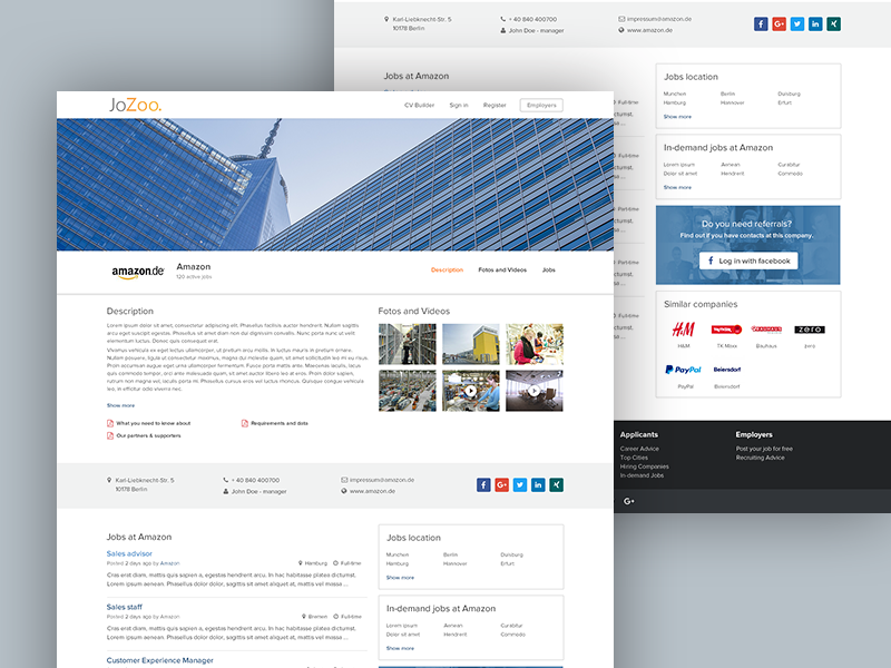 Jozoo company page