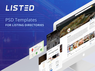Listed - PSD Template for listing directories web design design psd template ux ui listing directory listing listed