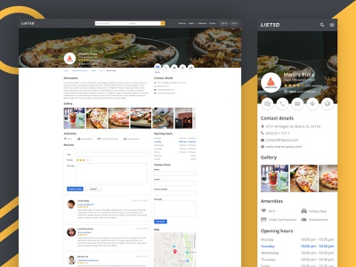 Listed - Company page company page mobile desktop design web design ux ui listing directory listing listed
