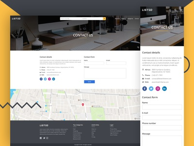 Listed - Contact page design contact page contact mobile desktop web design ui  ux ui listed