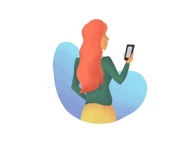 Submit a quote request quote request phone woman illustration