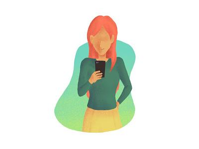 Compare offers compare offers compare phone woman illustration