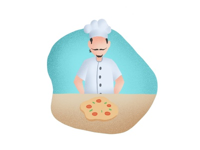 Collect illustration food ingredients chef