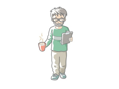 Person with clipboard