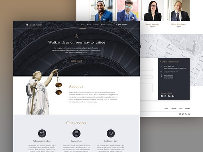 Lawyer template home page web design ui design template lawyer