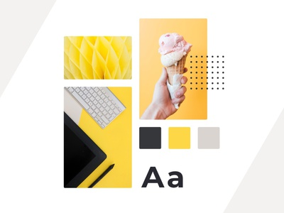 Moodboard design layout bannersnack typography yellow colors minimal moodboard design design moodboard