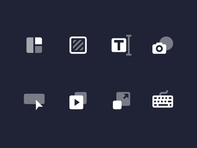 Editor Toolbar Icons bannersnack user interface vector shortcuts resize animator button elements text background templates modern design ui icon icons