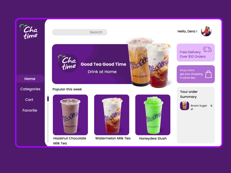 Chatime Web Concept design app user interface ui design ui interface website design concept