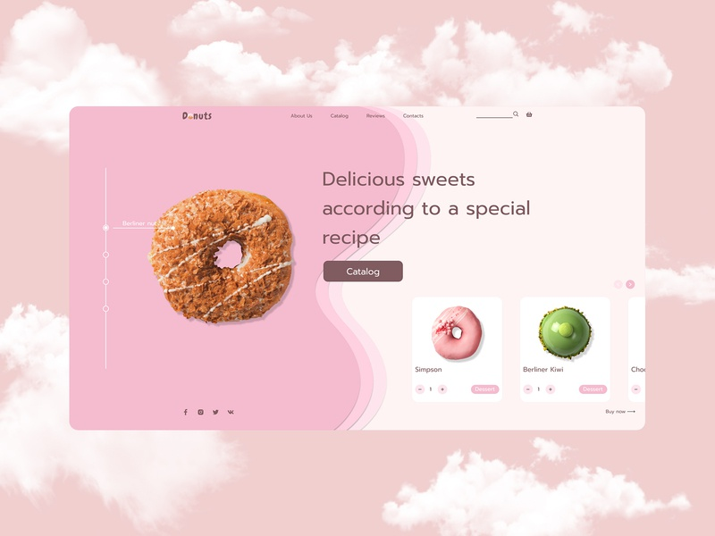 Donut site first page concept graphic home page webdesign uidesign website design desktop design homepage sweet food donuts shop landing interface website ux ui