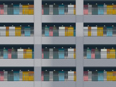 The Soho Odaiba Illustration | Tokyo minimal vector flat graphic design creative illustration design