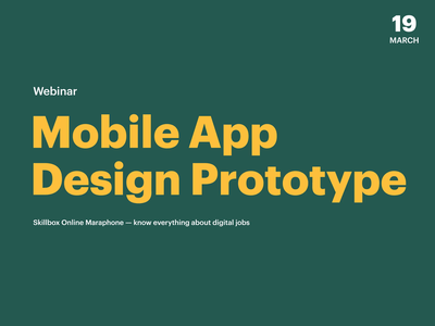 Mobile Apps Design Webinar Announcement Poster ios iphonex mockup figma aftereffects animation budget app banking ui mobile poster webinar event typography