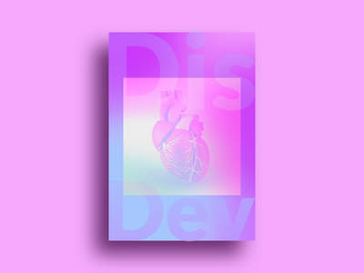 Designers + Developers = ❤️ love heart poster