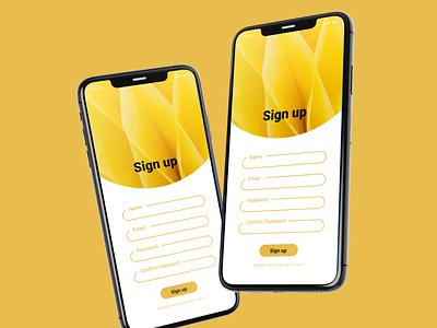 Daily UI Day 1: Sign up page dailyui 001 dailyuichallenge dailyui
