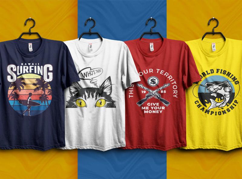 I will do custom graphic t shirt design for your print amazon flat vector minimalist company logo branding logo business typography graphic design illustration custom t-shirt design t shirt design