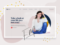 With You Coaching - Landing Page signature typogaphy feminine colorful blobby blobs website webdesign uidesign uiux