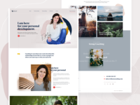 With You Coaching - Landing Page part 2 landing page flower natural gold website webdesign uiux uidesign blobby pastel colorful feminine typogaphy signature