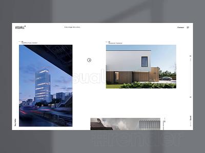 Visuall.info - CGI studio case study. Home page 3d animation. ux ui website webdesign mobile app mobile 3d animation 3d visualization mobile design
