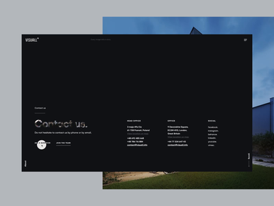 Visuall.info - CGI studio case study. Contact page animated navigation menu submenu page landing landing page webdesign ui design flat app uidesign contact page contact form