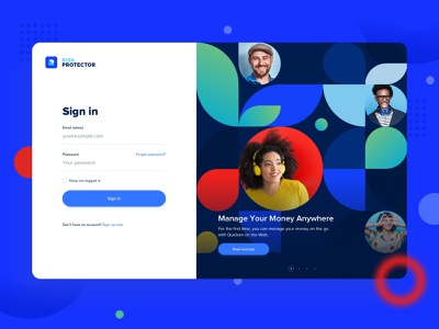 Risk Protector - Dashboard sign in/login signup sign in design dashboard desktop app desktop colorfull clean app admin financial finance interface ux uiux ui web typography website invoice