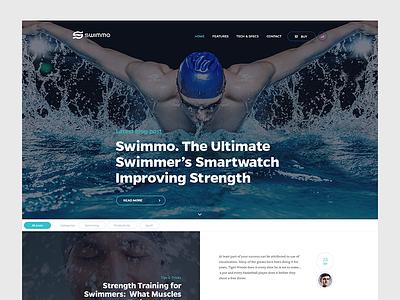 Swimmo.com Blog UI ui web website blog swim touchdesign design swiming