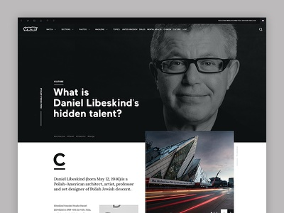 Vice Article Subpage subpage page minimalistic jakobsze article typography ux website ui touchdesign