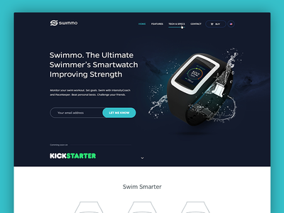 Swimmo Smart Watch - Website minimalistic website jakobsze touchdesign typography ux ui subpage page article