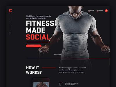 fitgapp.com landing page touchdesign jakobsze design mobile app application social fitness landing page landing website