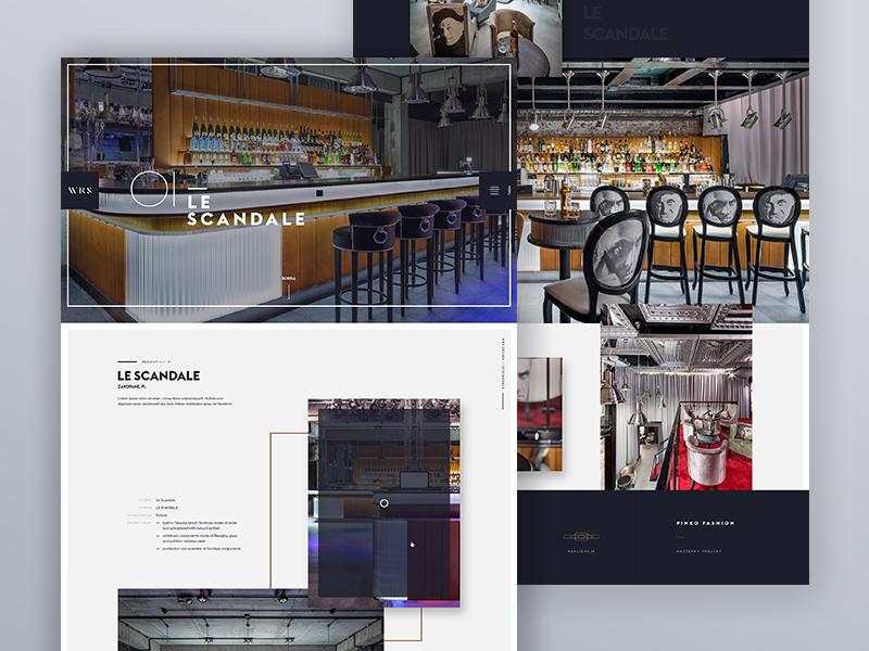 Wrsdesign Portfolio works - one project presentation works portfolio webdesign ux ui typography minimalistic minimal icon dark animations
