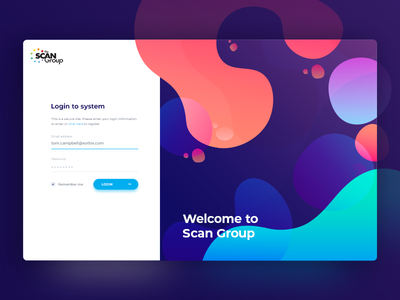 Simple and colorfull dashboard login screen blockchain web ux ui sign up sign in minimalistic login dashboard clean application