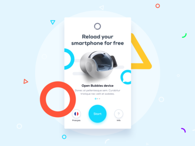 UI / UX - The Bubble - Free Smartphone Charger ui ux application colorful phone app charger phone minimalistic clean icon illustration onboarding ui device
