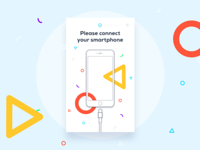 UI / UX - The Bubble - Free Smartphone Charger part II device onboarding illustration icon clean minimalistic charger phone app colorful application ui  ux