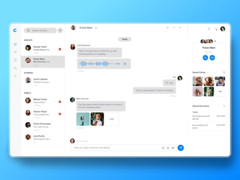 Light version for Messenger app redesign design messenger user experience light theme message app chat app website design ui  ux ui design experience design ux design