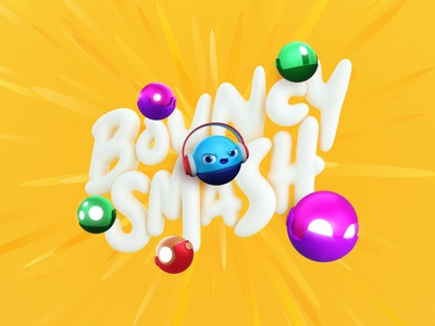 Bouncy Smash - A smashing arcade game c4d octane zbrush 3d character ios typography type design indie game