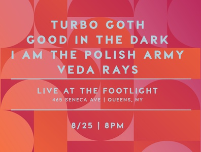 8/25 | Live at the Footlight