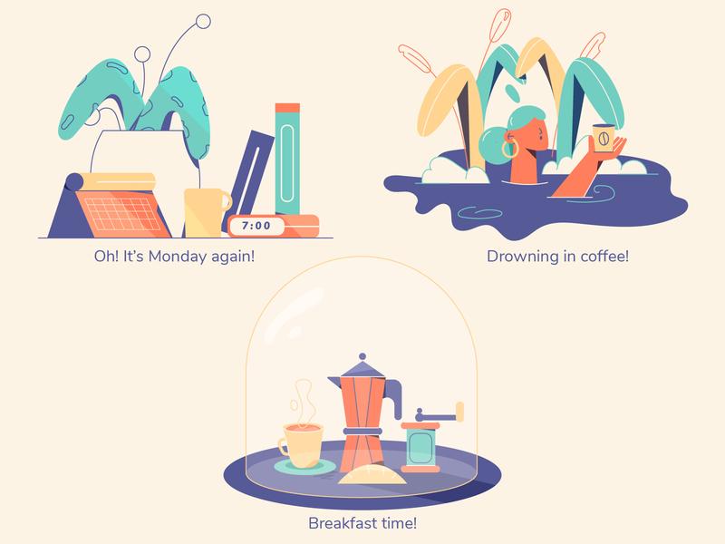 Spot illustrations minimal art web illustration web flat illustration editorial design 2d illustration character design ui app vector illustration vector spot illustration