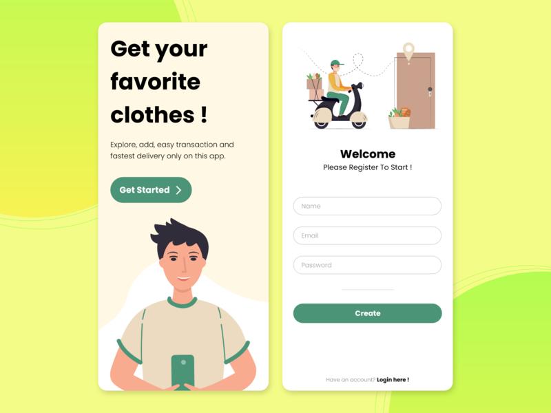 Sign Up UI green ui kit appui soft clothes ios app design softui mobile app mobile negativespace signup signupform ux uidesign uiux ecommerce